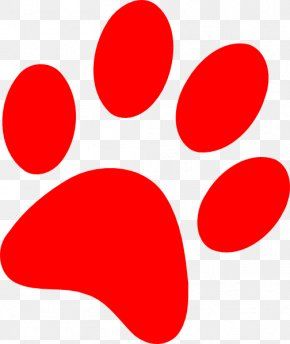 Red Panther Cliparts - Bulldog Puppy Paw Cat Clip Art PNG