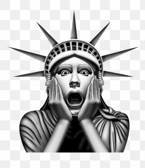 Funny Surprised Statue Of Liberty - Statue Of Liberty Download Icon PNG