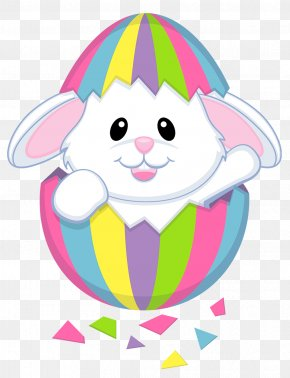 Easter Cute White Bunny Transparent Clipart - Easter Bunny Rabbit Easter Egg Clip Art PNG