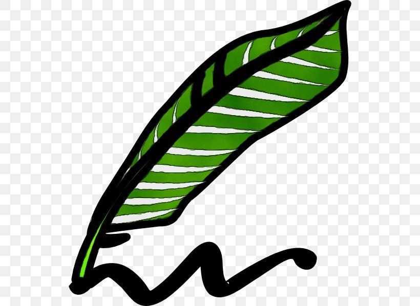 Green Leaf Watercolor, PNG, 552x598px, Watercolor, Feather, Green, Ink, Leaf Download Free