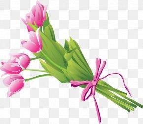 A Bunch Of Tulips - Flower Bouquet Clip Art PNG