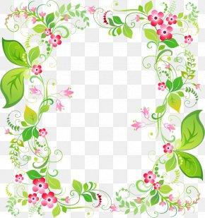 Spring Fresh Garland Border - Picture Frame Flower Clip Art PNG