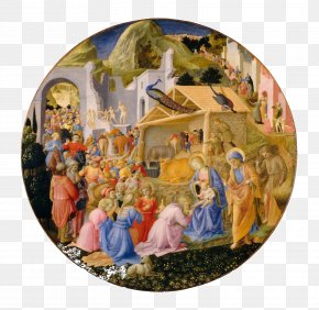Painting - National Gallery Of Art Adoration Of The Magi Renaissance Painting Painter PNG