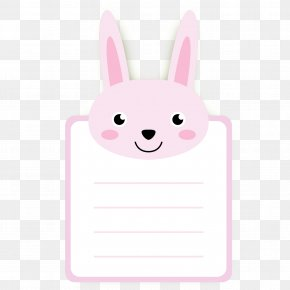 Pink Bunny Picture Message Card - Rabbit Easter Bunny U30abu30fcu30c9 PNG