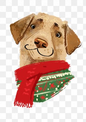 Hand-painted Christmas Dog Avatar PNG