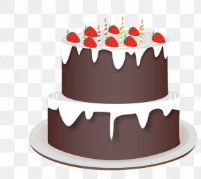 Cartoon Birthday Cake - Birthday Cake Torte Chocolate Cake Chocolate Tart PNG