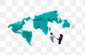 World Map Cooperation - Handshake Businessperson PNG
