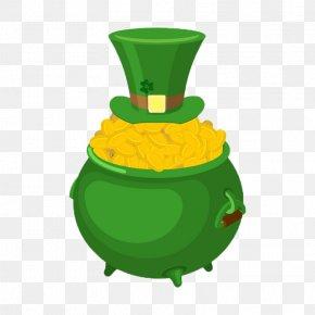 Pot Of Gold - Ireland Saint Patrick's Day Leprechaun Irish People PNG