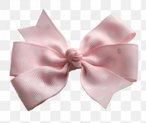 Bow - Pink White Headband Color Lavender PNG
