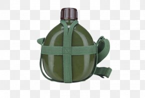 Green Army Kettle - Water Bottle Kettle PNG