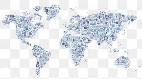 Creative Icon Design World Map - Location Organization Business Executive Search Halliburton PNG