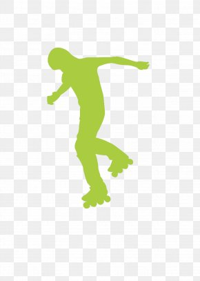 Exquisite Aesthetic Sports Figure Skating Rollerblade Silhouette - Ice Skating Sport Silhouette PNG