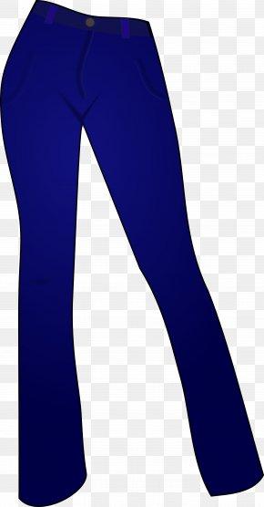Blue Work Cliparts - Leggings Cobalt Blue PNG