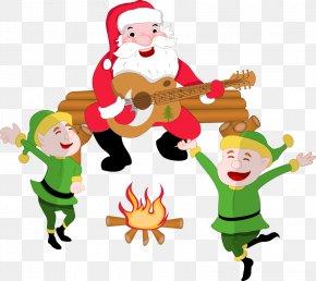 Cartoon Santa Claus Vector Material - The Elf On The Shelf Santa Claus Reindeer Christmas Clip Art PNG