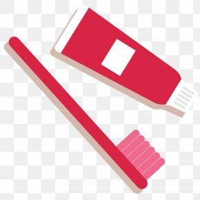 Vector Cartoon Daily Necessities Toothpaste Toothbrush - Toothbrush Toothpaste Cartoon PNG
