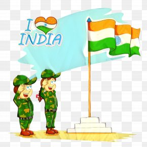 Saint Patricks Day Cartoon - India Independence Day Indian Flag PNG