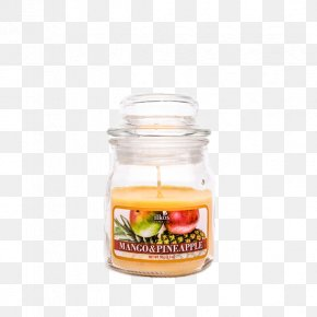 Pineapple Mango - Jar Candle Gel Wax Summer Nights PNG