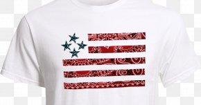 T-shirt - T-shirt Ben Franklin Crafts And Frame Shop Flag Of The United States Bandana PNG