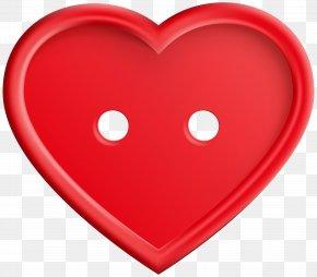 Red Heart Button Clip Art Image - Heart Clip Art PNG