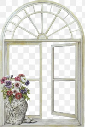 Window - Window Shutter Mirror Picture Frame Paned Window PNG