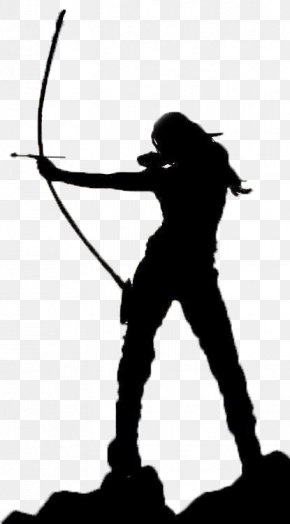Archery Silhouette - Bow And Arrow Archery Shooting Bowhunting PNG