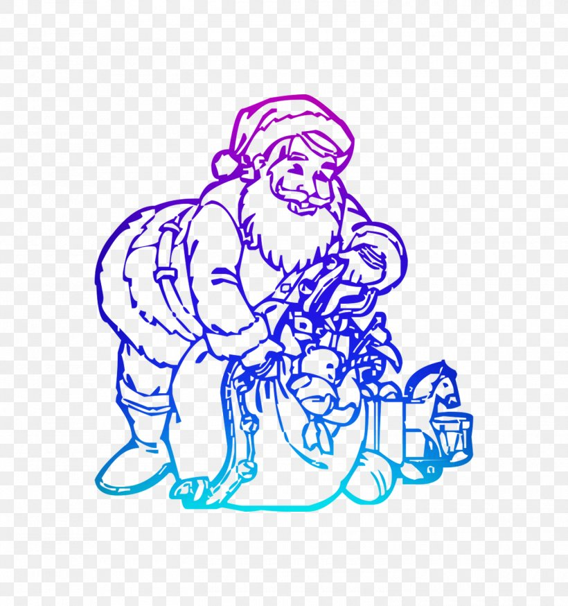 How to Draw Santa Making Toys | Santa Coloring Pages for Kids ... | 853x800