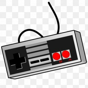 Game Clipart - Black & White Wii Video Game Game Controllers Clip Art PNG