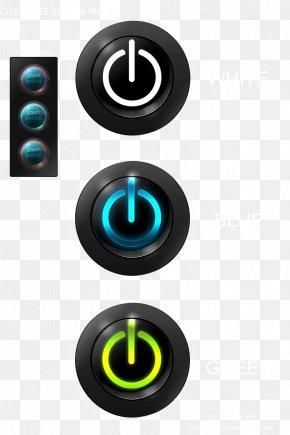 Computer Shutdown Button - Button Switch Power Symbol Icon PNG