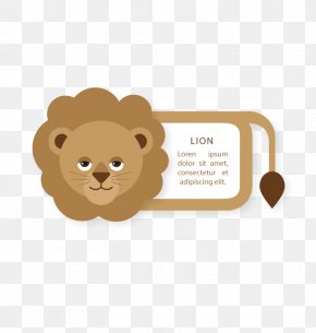 Vector Label Lion - Lion Euclidean Vector Computer File PNG