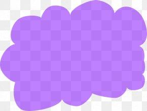 Purple Cloud Cliparts - Heart Petal Rectangle Pattern PNG