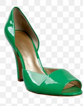 HD Creative Green Heels - High-heeled Footwear Shoe Boot Sandal PNG