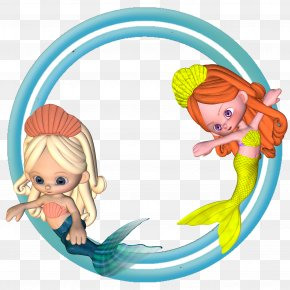 Tranquil Frame Mermaid - Clip Art Borders And Frames Image Picture Frames PNG