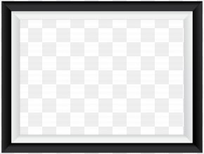 Black White Border Frame Transparent Image - Square Area Picture Frame Black And White Pattern PNG
