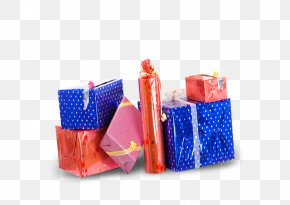 Various Gift Packaging Mix - Blue Plastic Pattern PNG