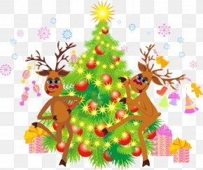 Reindeer - Christmas Tree Reindeer Santa Claus Christmas Ornament PNG