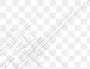 Technology Line - Point Angle Black And White Pattern PNG