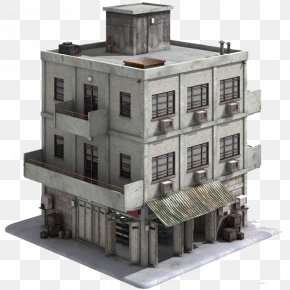 ThreeDimensional Factory Building Model - Building Unreal Engine 4 3D Modeling Concept Art Video Game PNG