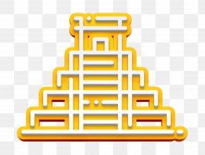 Yellow Travel Icon - Chichen Icon Itza Icon Landmark Icon PNG