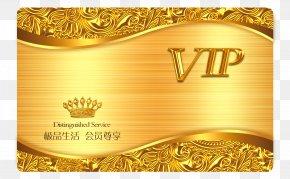 VIP Membership Card Business Card Design - Business Card Gold Template PNG