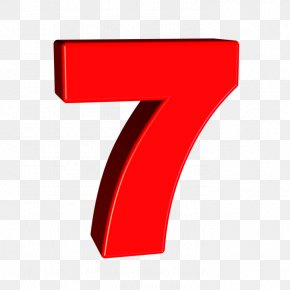 Number 7 - Red Angle Design Product PNG