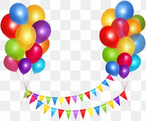 Floating Balloons - Happy Birthday To You Party Balloon Clip Art PNG