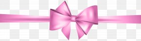 Pink Bow Clip Art - Gold Ribbon Clip Art PNG
