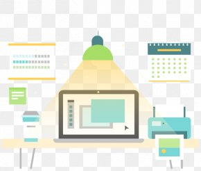 Vector Flat Home Office - Graphic Design Euclidean Vector Designer PNG