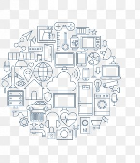 Internet Of Things - Internet Of Things Handheld Devices Circle PNG