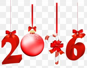 2016 Red Transparent Clip Art Image - Christmas New Year Clip Art PNG