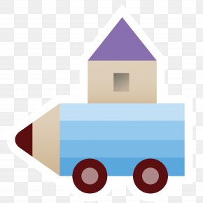 Cartoon Pencil Car - Drawing Cartoon Pencil PNG