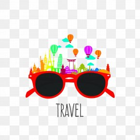 Tourism And Sunglasses - Siem Reap Tourism Travel Illustration PNG