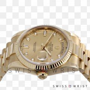 Watch - Rolex Day-Date Watch Strap Gold Platinum PNG