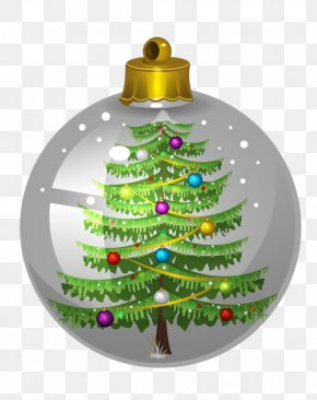 Christmas Ball In Christmas Tree - Christmas Tree Bolas Christmas Ornament PNG