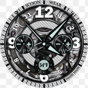 Clock - Rim Wheel Metal Clock Font PNG